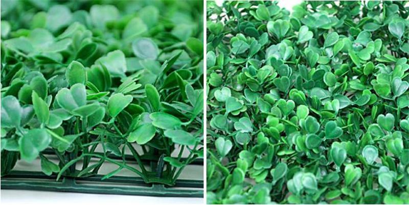wholesale artificial turf Artificial plastic boxwood grass mat 25cm*25cm Q3501