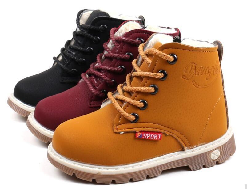 fe7a087a5 Compre Botas De Nieve Para Niños Zapatos Para Niñas Niños Botas De Moda De  Fondo Suave Para Bebés Botines 21 30 Otoño Invierno Botas Para Niños Zapatos  A ...