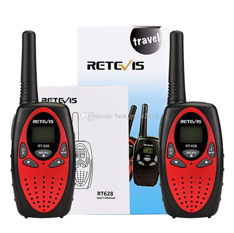 Livre DHL Retevis RT628 Mini Crianças Walkie Talkie Rádio Crianças 0.5 W VOX PTT LCD PMR Freqüência Portátil Ham Radio Hf Transceptor Melhor