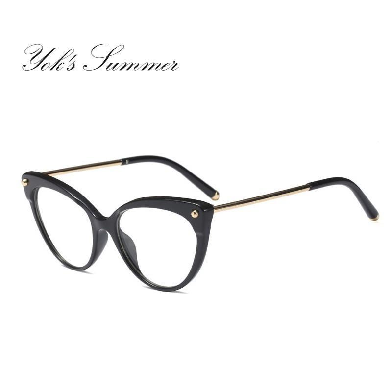 1bf8a6930cc Yok s Leopard TR90 Titanium Alloy Eyeglasses Frame Women Cat Eye ...