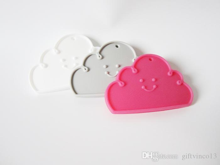 Bulut Deldi Silikon kolye kolye Bebek Duyu diş kaşıyıcınız Oyuncak Bulut Çiğneme Boncuk Güvenli Gıdaya Uygun Silikon Malzeme Bebek Hediye Gülümseme