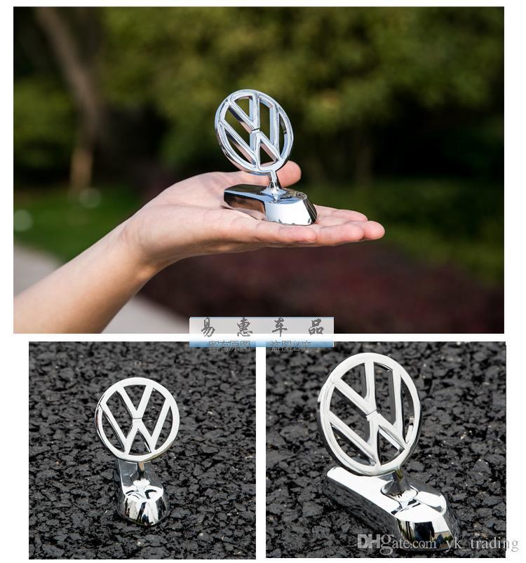 For Volkswagen VW GTI Golf passat B6 Touran Tiguan Jetta MK POLO CC  Scisrocco 3d metal alloy logo Frond Hood emblem badges with sticker
