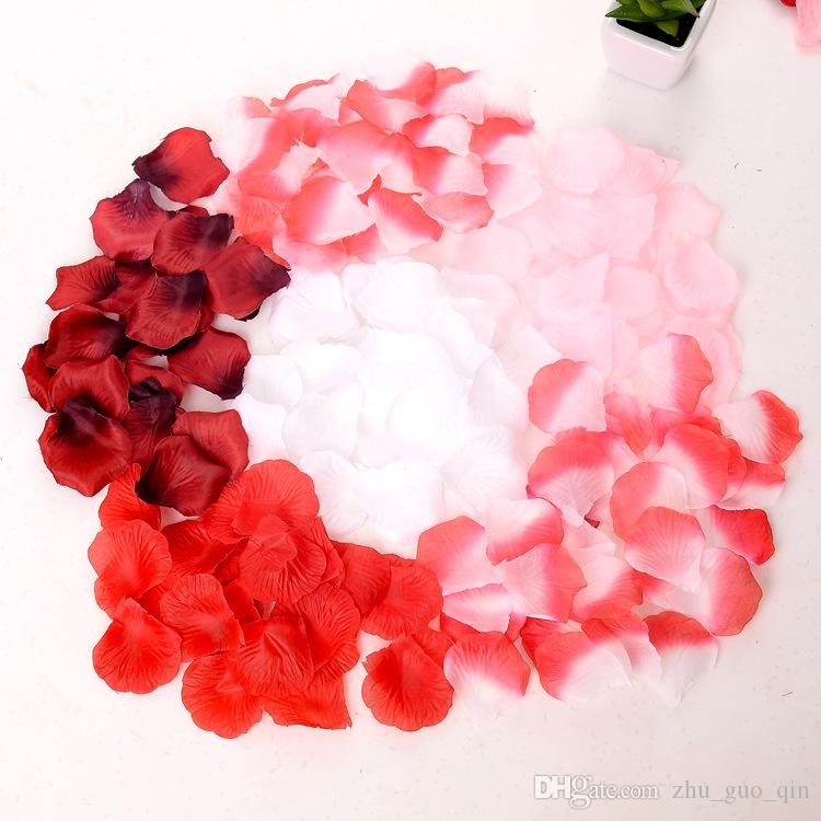 200 adet / grup Düğün Aksesuarları Yapay Yaprakları Çiçekler Gül Yaprakları Düğün Ve Parti Doğum Günü Dekorasyon Seçmek Için 16 Renkler