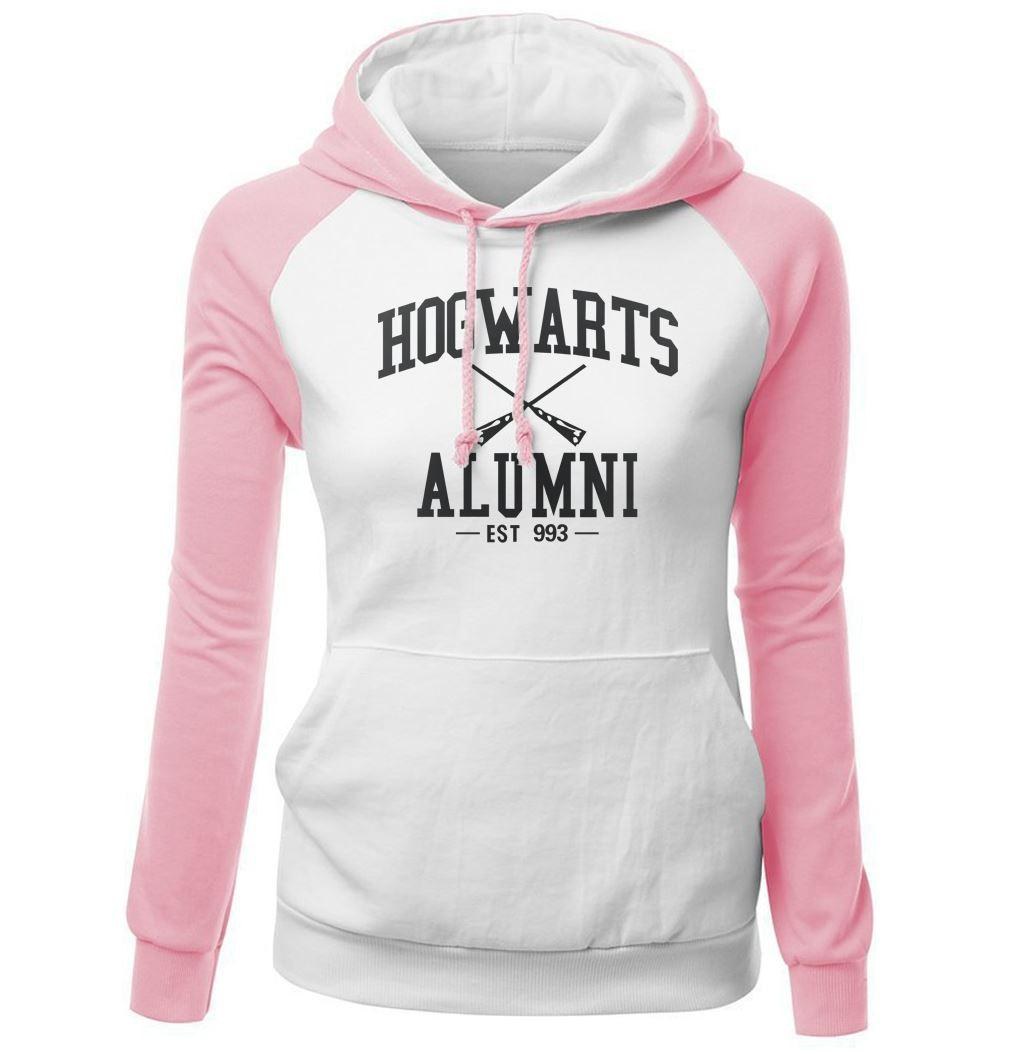 Female Sweatshirt 2017 Autumn Winter Slim Brand Clothing Hoodies Print HOGWARTS ALUMNI Casual Tracksuit Harajuku Hoody Kpop