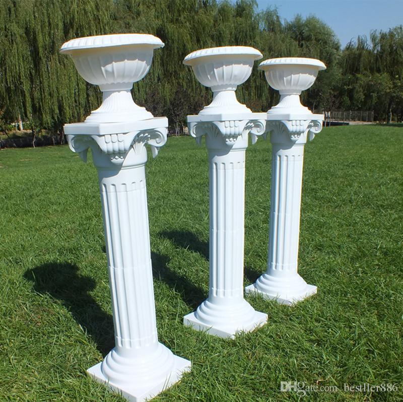 النمط الراقي الأعمدة الرومانية اللون الأبيض أعمدة بلاستيكية الطريق استشهد الدعائم لوازم الزفاف الحدث الديكور