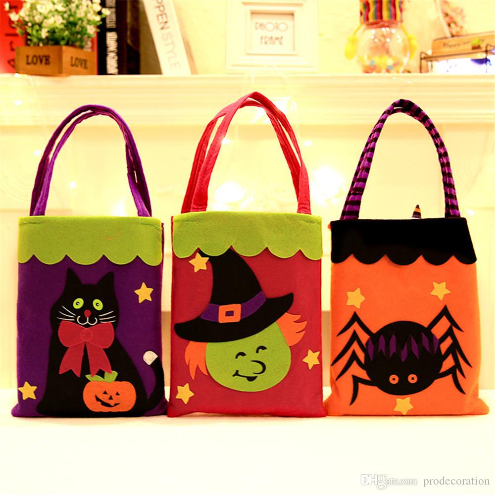 Diy Halloween Trick Or Treat Bags.Diy Halloween Non Woven Fabric Candy Bag Gift Bags Pumpkin Trick Treat Bags Sacks Hallowmas Gift For Kids Trick Or Treat