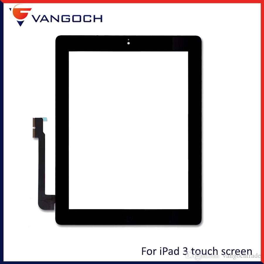For iPad 2 3 4 Touch Screen iPad Mini 1 2 3 Front Glass Replacement With Home Button Adhesive