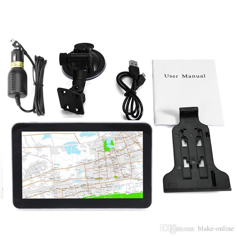 HD 7 Cal Auto Samochodowy Nawigacja GPS Navigator Avin Bluetooth Hands Darmowe połączenia Nadajnik FM Bezpłatne 8 GB 3D Maps