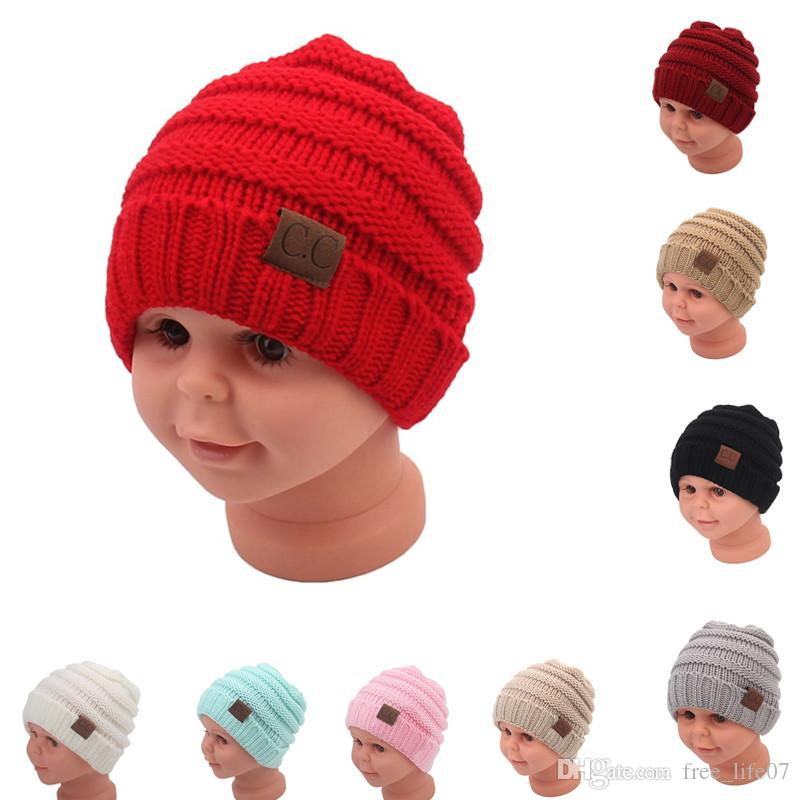 b70cc4c8c30 Winter Hats For Kids CC Beanie Warm Hat Knit Beanies Slouchy Hats For Girls  Cute Boys Knitted Skullies Cap Children Baggy Caps CC Kids Beanies Kids  Knit Hat ...