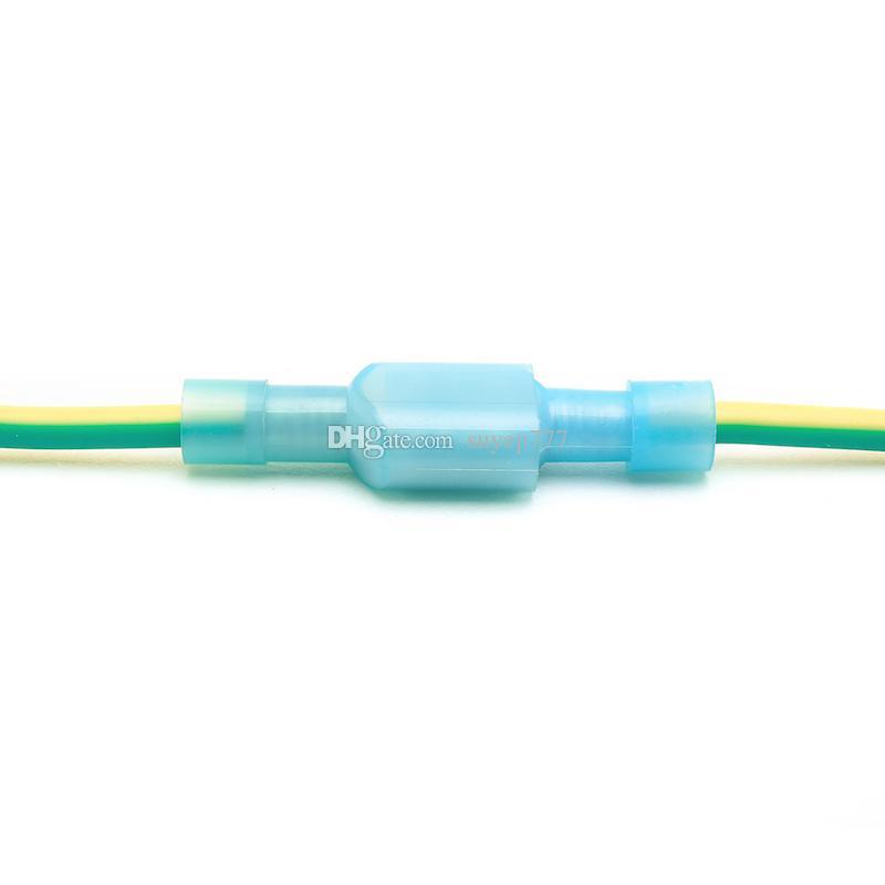 500 ADET Elektrik Konnektörü Naylon Tamamen Yalıtımlı Erkek Kadın Popo Terminali Kıvrım Kırmızı FDFN / MDFN 2-250 Mavi