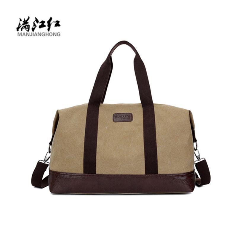 2196c38e71 Manjianghong Brand Men s Travel Bag Men Canvas Travel Duffle ...