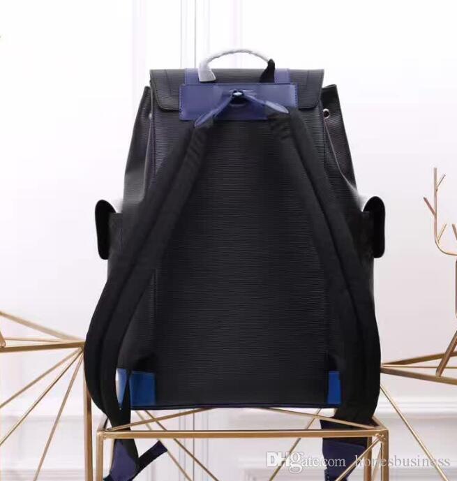 جلد طبيعي النساء الرجال حقائب تحمل على الظهر الأزياء حقيبة الكتف حقيبة سفر حقيبة محفظة 41379 حجم 29 * 44 * 7cm دراجة نارية