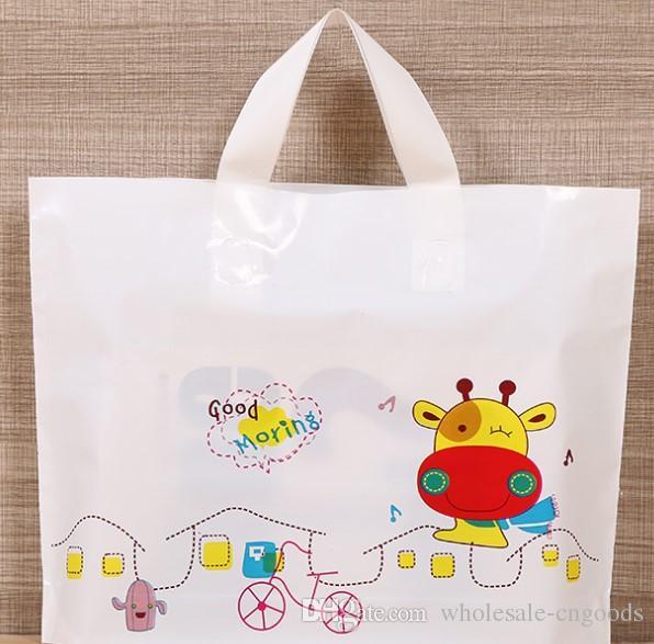 Clothing bag wholesale cartoon portable shopping gift bag plastic bag  33cm 25cm+ bottom 6cm f690b02b80