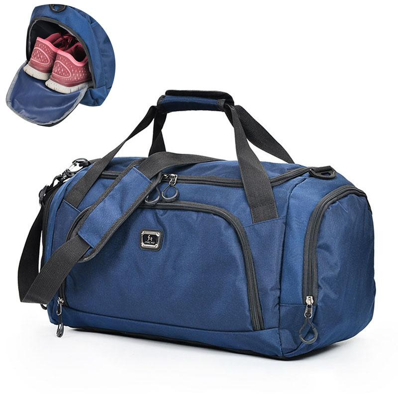 274a8ca7594 2019 Waterproof Large Gym Bags Travel Outdoor Shoulder Bag Handbags Sports  Duffel For Men Crossbody Luggage Fitness Shoes PackX426WA From Pothos, ...