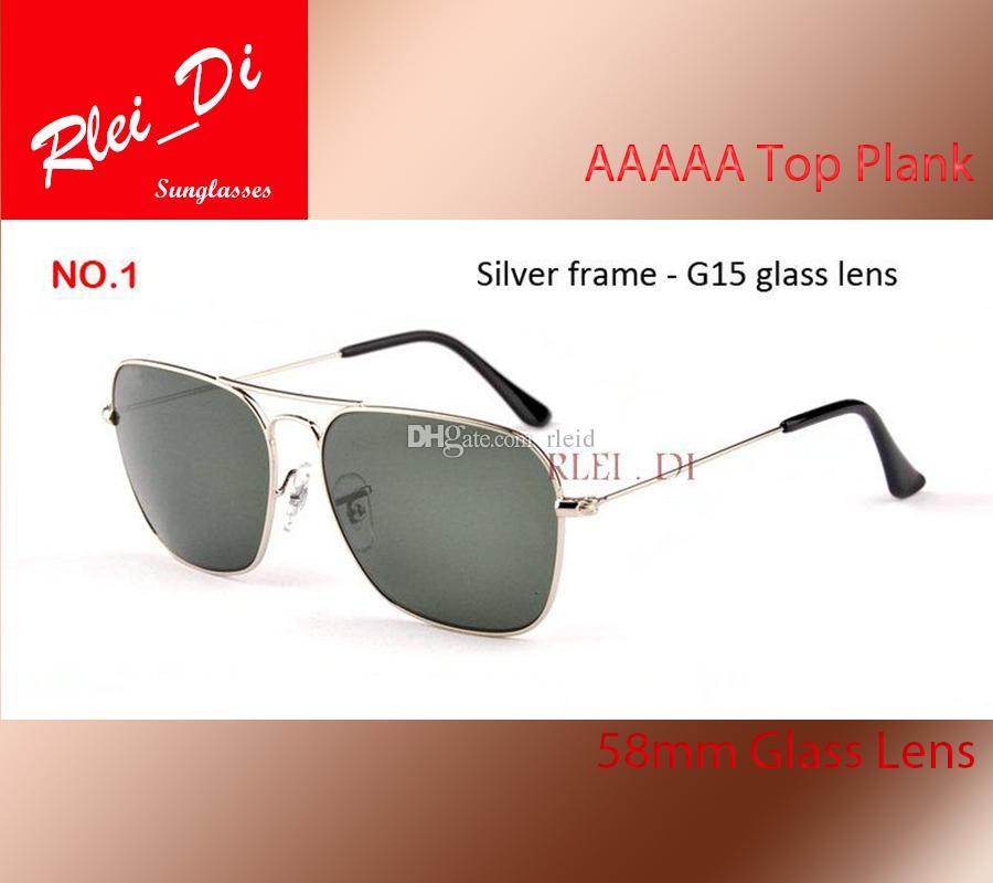 ce8d68fbb1 AAAAA Sunglasses Men Women Rectangle Sun Glasses Metal Frame ...