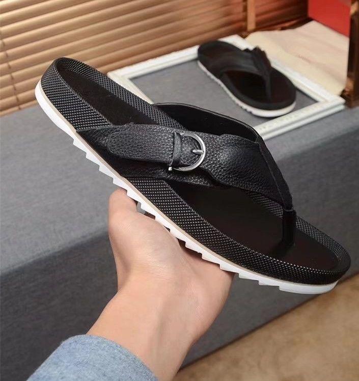 845f37e17a507 Hot 2018 Summer Men s Shoes Flip Flops For Loose-fitting Men Beach  Slippers