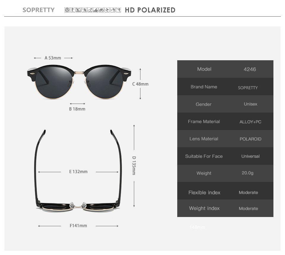 Ücretsiz kargo Yeni Moda UV400 Polarize Güneş Gözlüğü flaş Gözlük Klasik Yuvarlak lens Güneş gözlükleri Erkekler Kadınlar için 4246