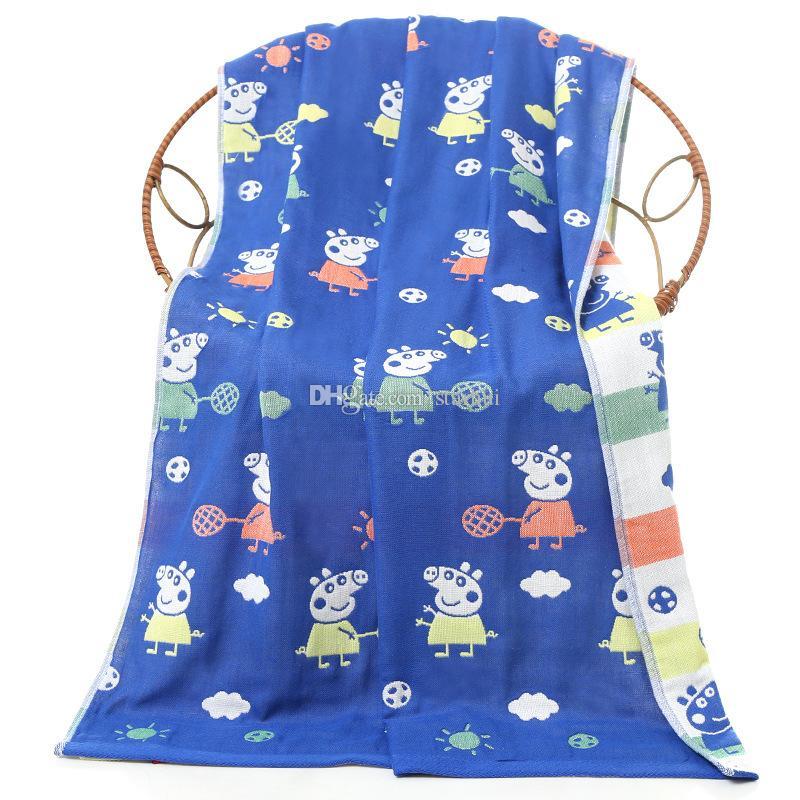 Asciugamano da bagno di alta qualità 70 * 140cm adulti Cartone animato bambini Confortevole asciugamano da bagno a tre strati con accessori il bagno WX9-454