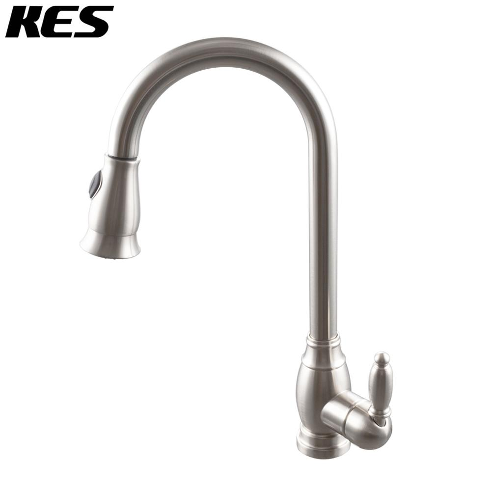 Kes Kitchen Faucet Pulldown Spray Single Handle Traditional Style