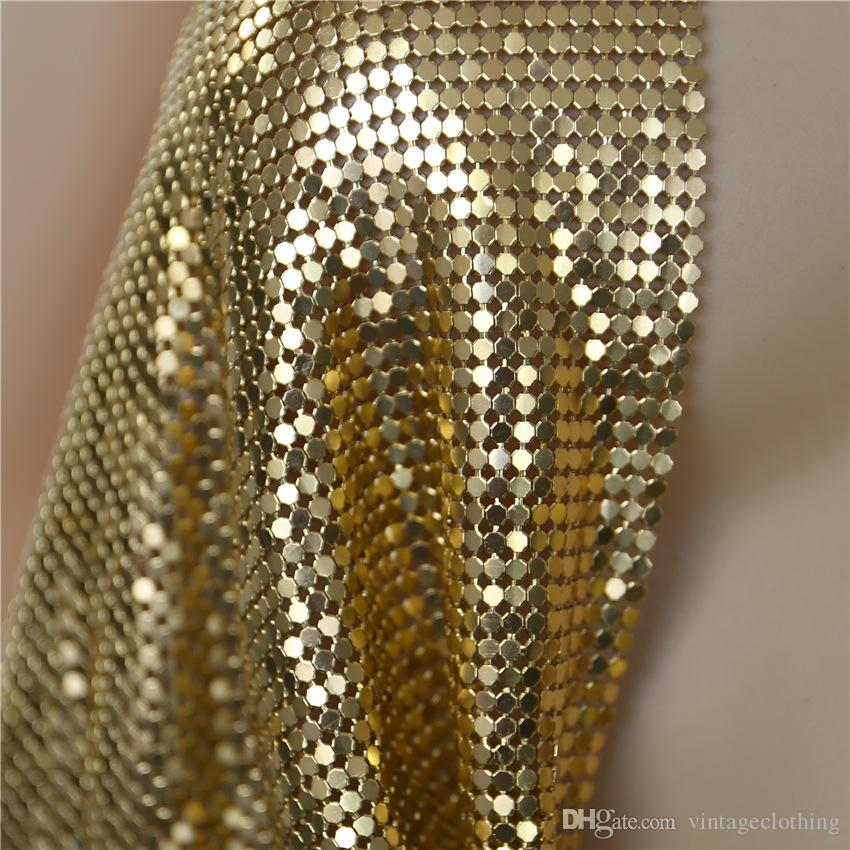 Sexy Club Camisoles Unterwäsche für Damen Bodenbildung Halfter Tanks Kurze tiefe V-Ausschnitt T-Stücke Gold Chain Tops