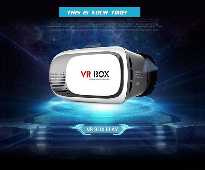 VR BOX 2.0 Virtual Reality Heaset Glass Compatible 3.5-6 Inch Smart Phone Video Movie Game 3D Glasses