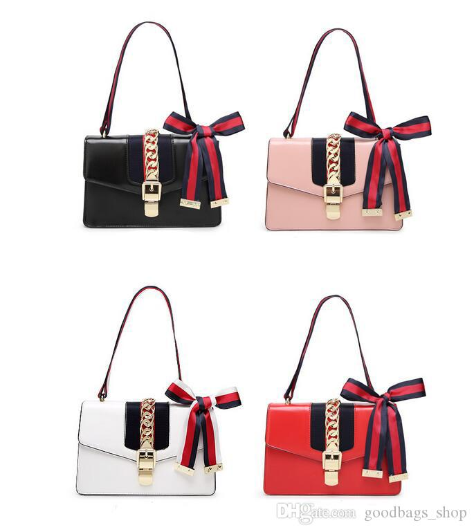 2018 New High Quality Fashion Women Handbags Bow Decorate Shoulder Chain Bags  Tote PU Leather Handbags College Style Party Bag Satchels Leather Purses  From ... 072eac9dd9111