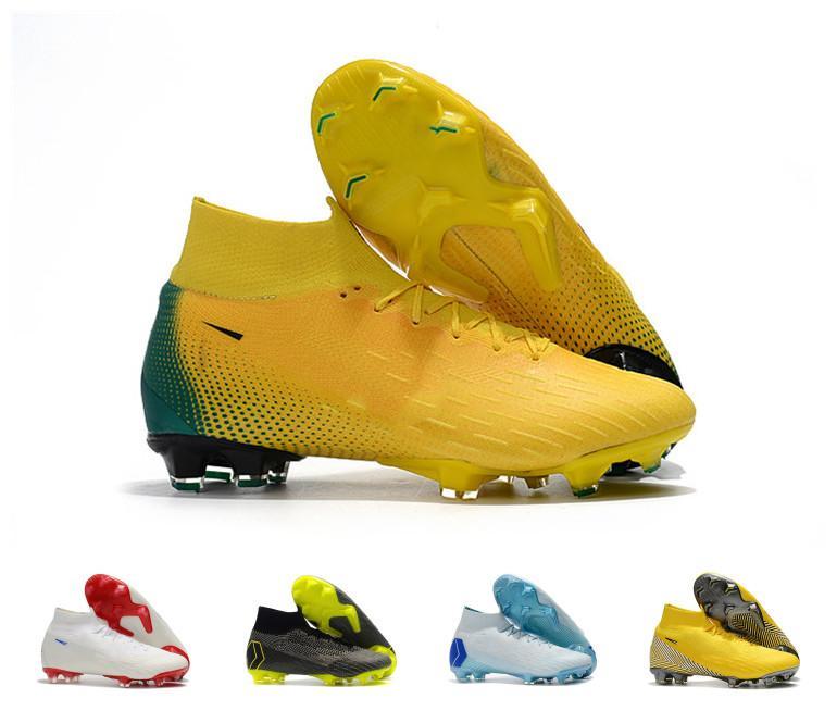 best sneakers 2a481 5c611 Acheter Top Qualité Hommes Mercurial Superfly VI 360 Elite Ronaldo FG CR  Chaussures De Football Chaussures Bottes De Football Haute Cheville Soccer  De ...