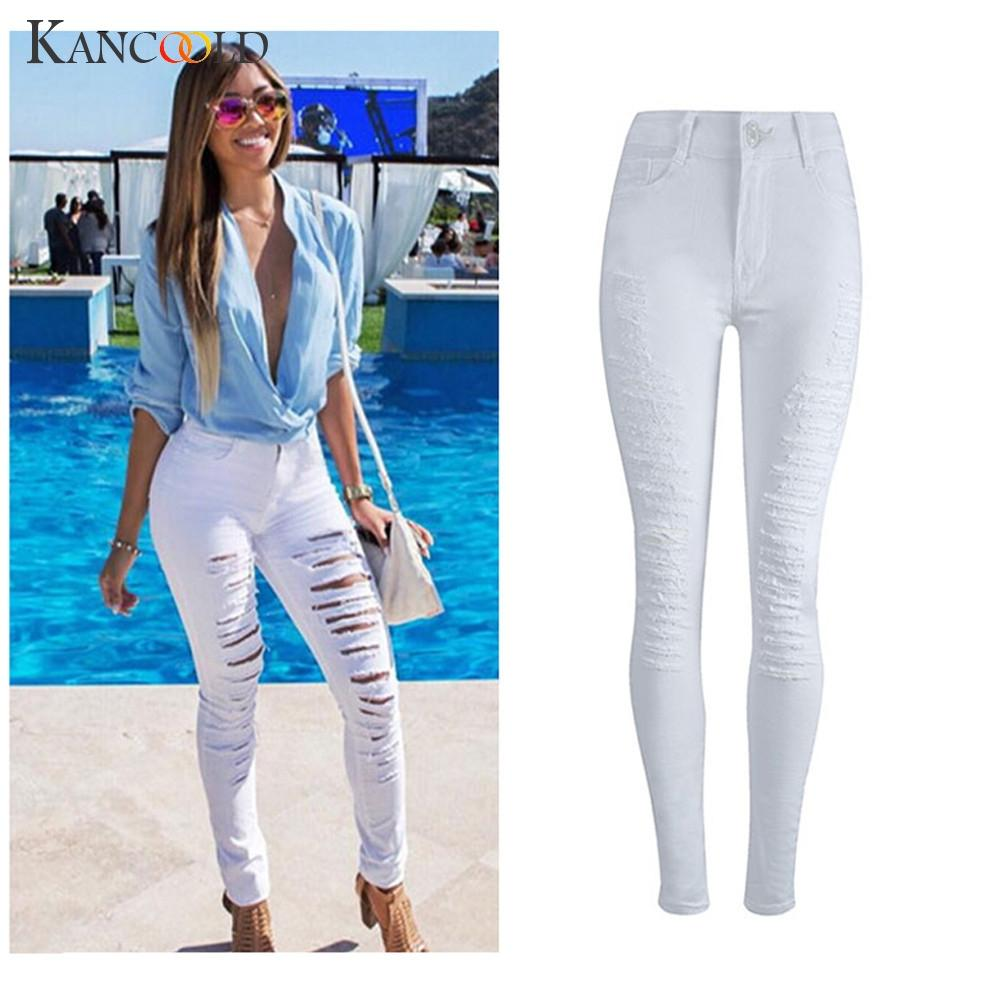Compre KANCOOLD Jeans Para Mujer De Cintura Alta Denim Skinny Jeans  Pantalones Elásticos Delgados Pantalones Largos Delgados Mujer 2018Oct24 A   22.7 Del ... 1f3a1c65e0d8