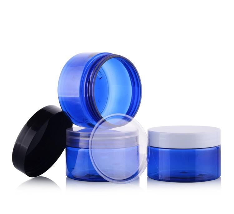 100G Plastic Cream Jars with inner lid Empty Cosmetic Bottles Empty Plastic Jar Pot Containers Mask exfoliant Cosmetic Creamg