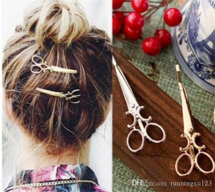 55f576f4c5 Women Lady Girls Scissors Shape Hair Clip Barrettes Hairpin Nice ...