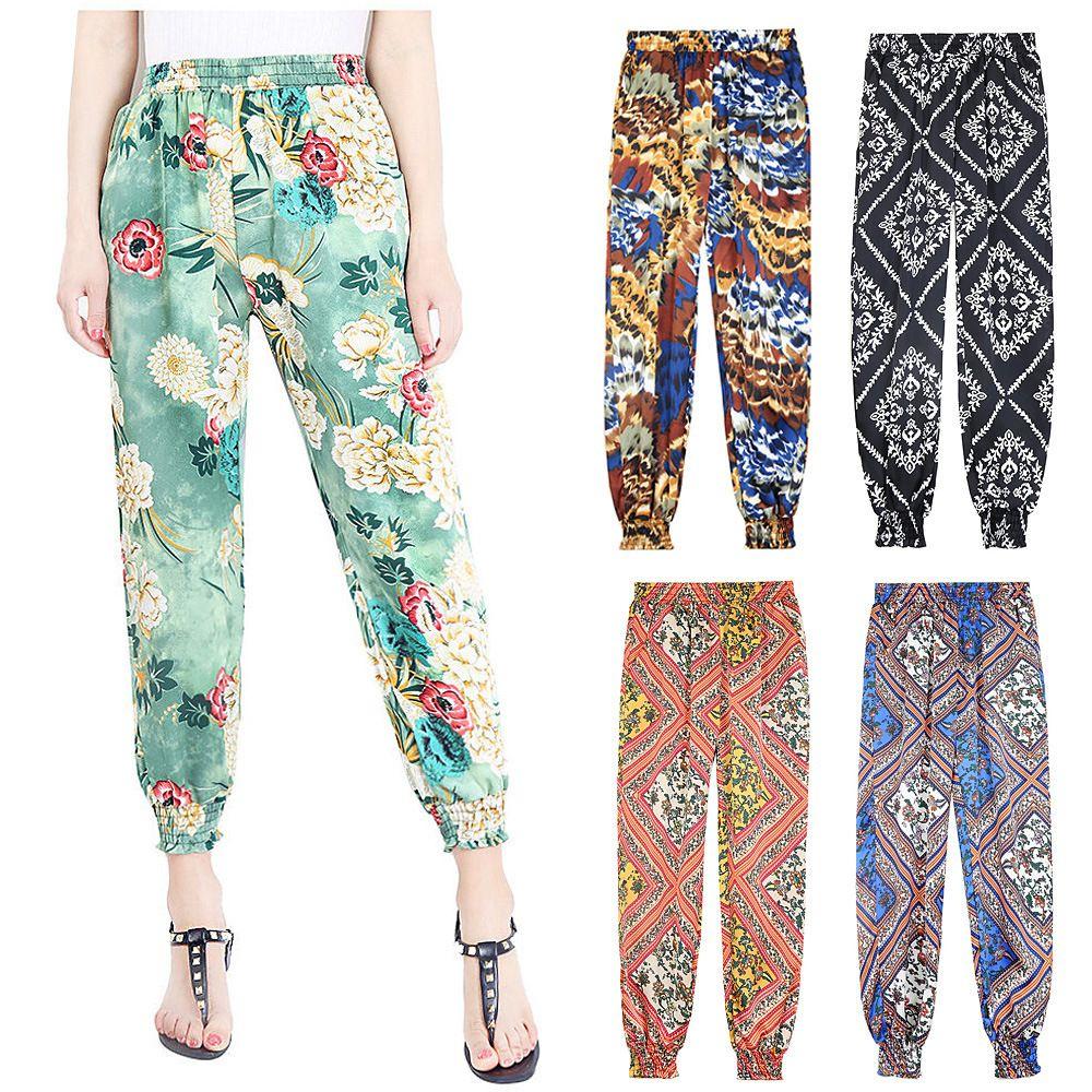 Harem Pants Women New Womens Trousers Ladies Harem Pants Floral Printed Bottoms Leggings