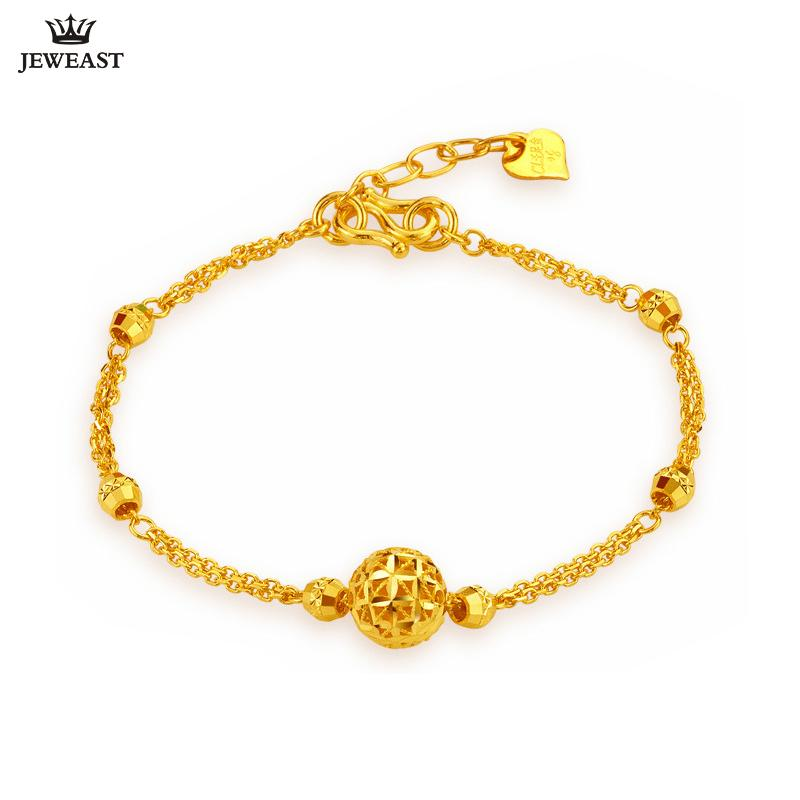 80ddc8693 2019 24K Pure Gold Bracelet Real 999 Solid Gold Bangle Simple Upscale  Beautiful Hollow Ball Trendy Classic Jewelry Hot Sell New 2018 From Kwind,  ...