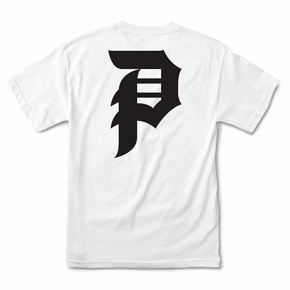 018668c1 Primitive Men's Dirty P Core T Shirt White Black Streetwear Clothing Apparel