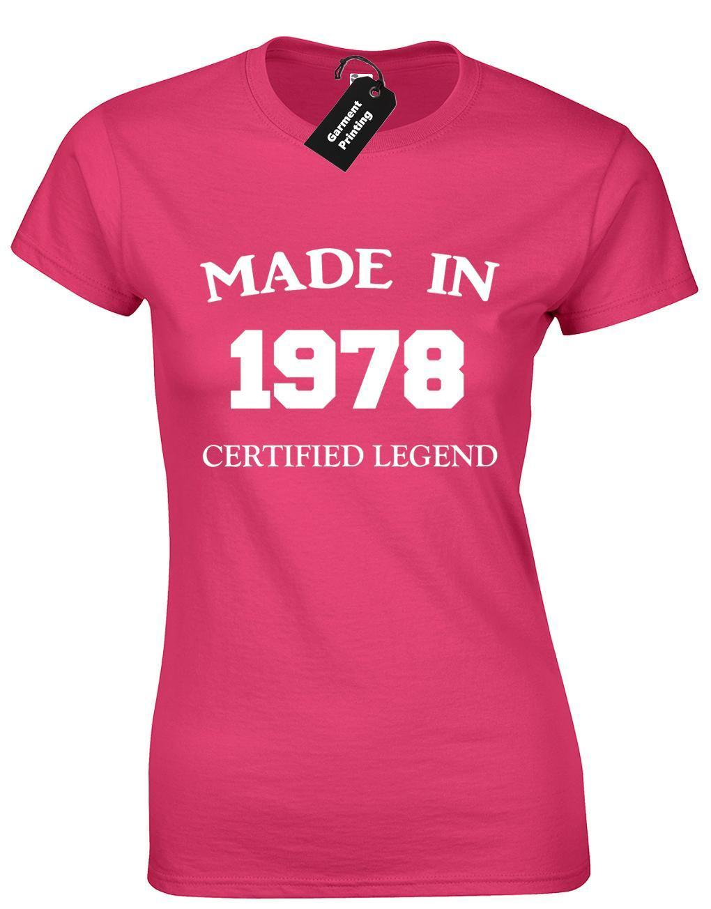 MADE IN 1978 LADIES T SHIRT FUNNY 40TH BIRTHDAY GIFT PRESENT IDEA MUM DAD DESIGN Best Deal On Shirts That Shirt From Yuxin05 138