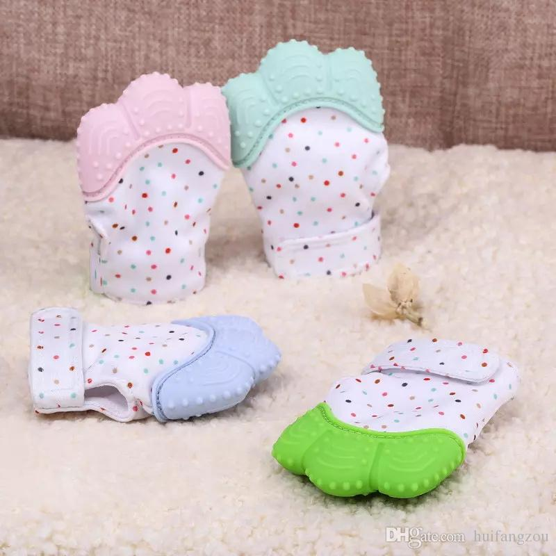 High Quality Baby Teething Mitten BPA Free Safe Silicone Teether Toy Mini Mitt Chewable Glove Baby Shower Gift Wholesale