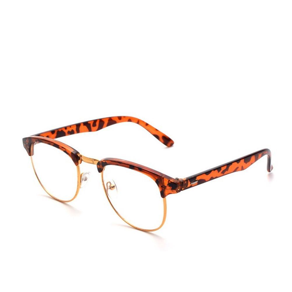 e22fdedd95ba Half Metal Frame Classic Eyeglasses Women Men Retro Vintage Unisex ...