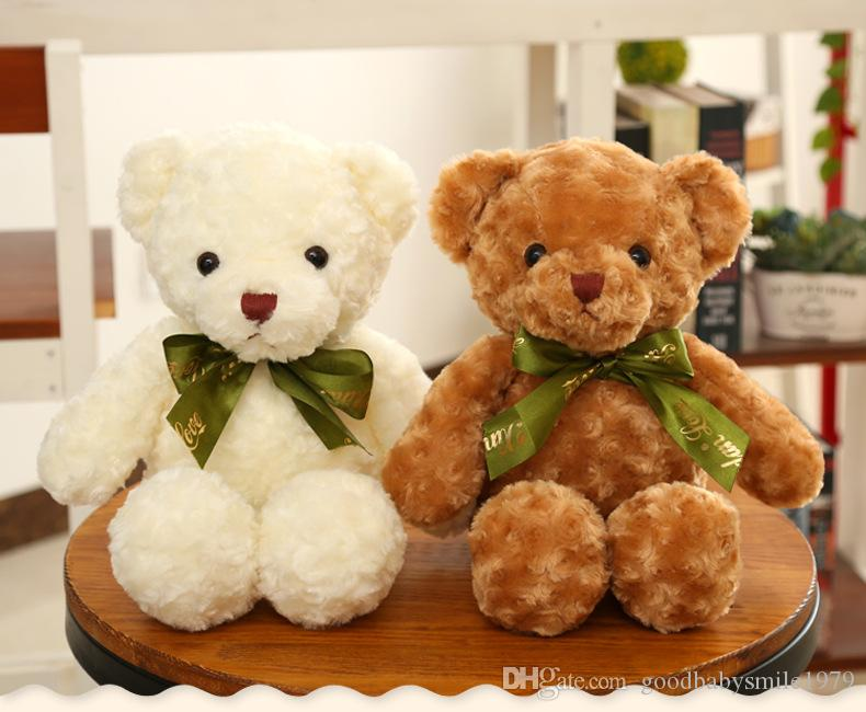 a08fee2d7f70 2019 35cm Soft Cuddly Kids Toys Small Teddy Bears With Tie Stuffed Plush  Toys For Children Girls GF Birthday Gifts From Goodbabysmile1979, $3.82 |  DHgate.
