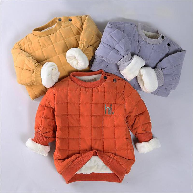 a19a57483 Children Winter Clothing For Girls Boys 2017 Baby Sweatshirt Warm ...
