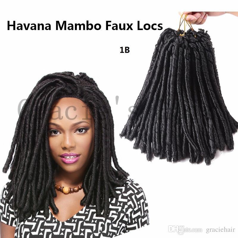 1b 14inch Faux Locs Crochet Hair Extensions Havana Mambo Faux Locs