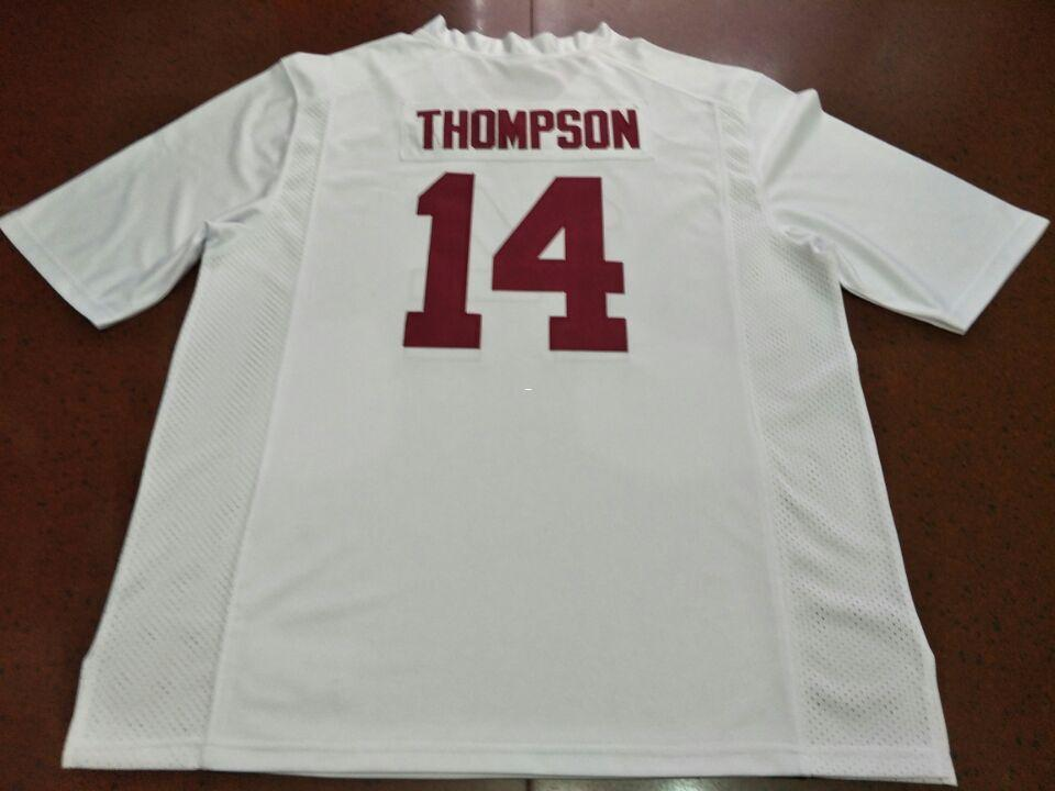 huge selection of 2ca86 e5f57 Men Alabama Crimson Tide Deionte Thompson #14 real Full embroidery College  Jersey Size S-4XL or custom any name or number jersey