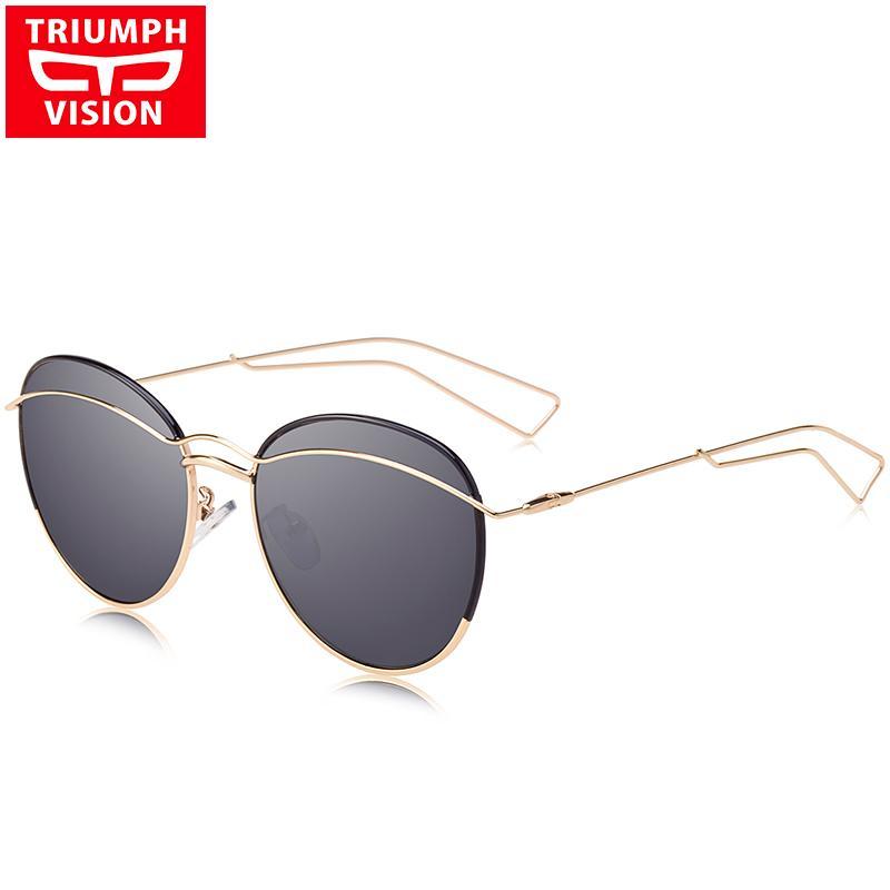 a0b1e72711a97 Compre TRIUMPH VISION Mujer De Lujo De Metal Redondo Gafas De Sol De Mujer  Rosa Púrpura Espejo UV400 Gafas De Sol Para Mujeres Nuevas Damas Sombras A   42.35 ...