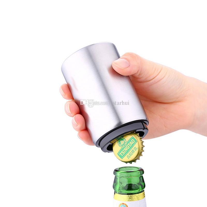 جديد المقاوم للصدأ الفتاحات زجاجة بيرة التلقائي الفتاحات زجاجة البيرة الصودا كاب النبيذ الاحمر فتاحة بار مطبخ البيرة الصودا كاب WX9-347