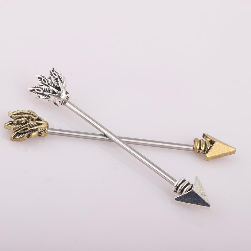 Punk Earrings Piercing Cone Steel Industrial Barbell Ear Bar Mens Woman Cartilage Tragus