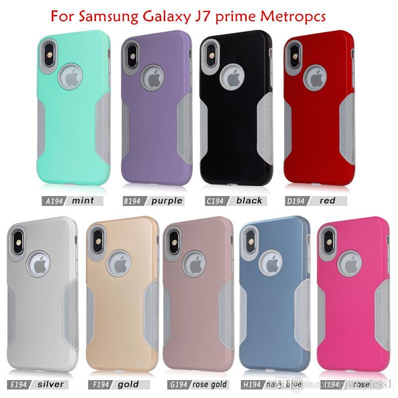 c5b904d6e4a Forros Para Celulares Armor Hybrid Funda Para Motorola Moto G5 Para Samsung  Galaxy J7 2017 J7 Prime J720 Metropcs Teléfono Fibra De Carbono Gris  Cubierta ...