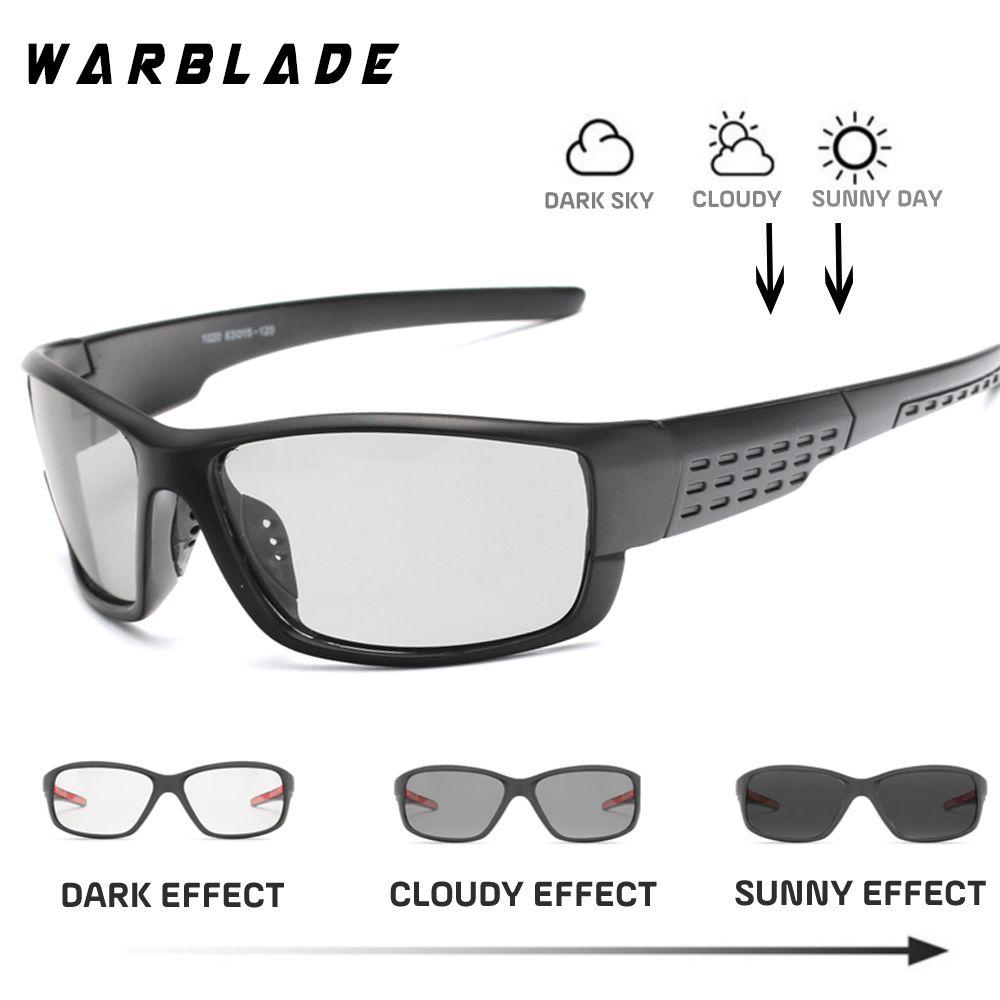 e5b6c7a45e Driving Polarized Square Photochromic Sunglasses Men Chameleon Glasses Men Driver  Goggles UV400 Fishing Sunglases WarBLade Prescription Sunglasses Glasses ...