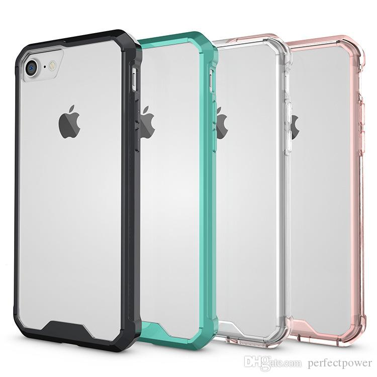 For Iphone XR MAX 8 7 Plus X 6/6s Plus Case Soft TPU Bumper + Luxury Designer Transparent Clear Hybrid Back Cover Case