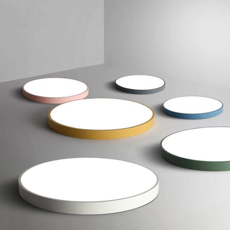 Deckenleuchte LED Lampe Wohnzimmer Leuchte Schlafzimmer Küche  Oberflächenmontage Flush Panel Fernbedienung 5cm ultradünn
