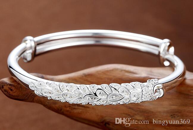 wholesale/retail bracelets women's sterling silver bracelets 999 sterling silver jewelry push pull hand rings