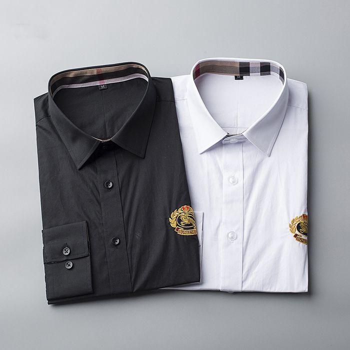 eb3837a6f Compre Marca De Lujo De Los Hombres De Negocios Camisa Informal Para Hombre  De Manga Larga A Rayas Slim Fit Camisa Masculina Social Camisas Masculinas  Nueva ...