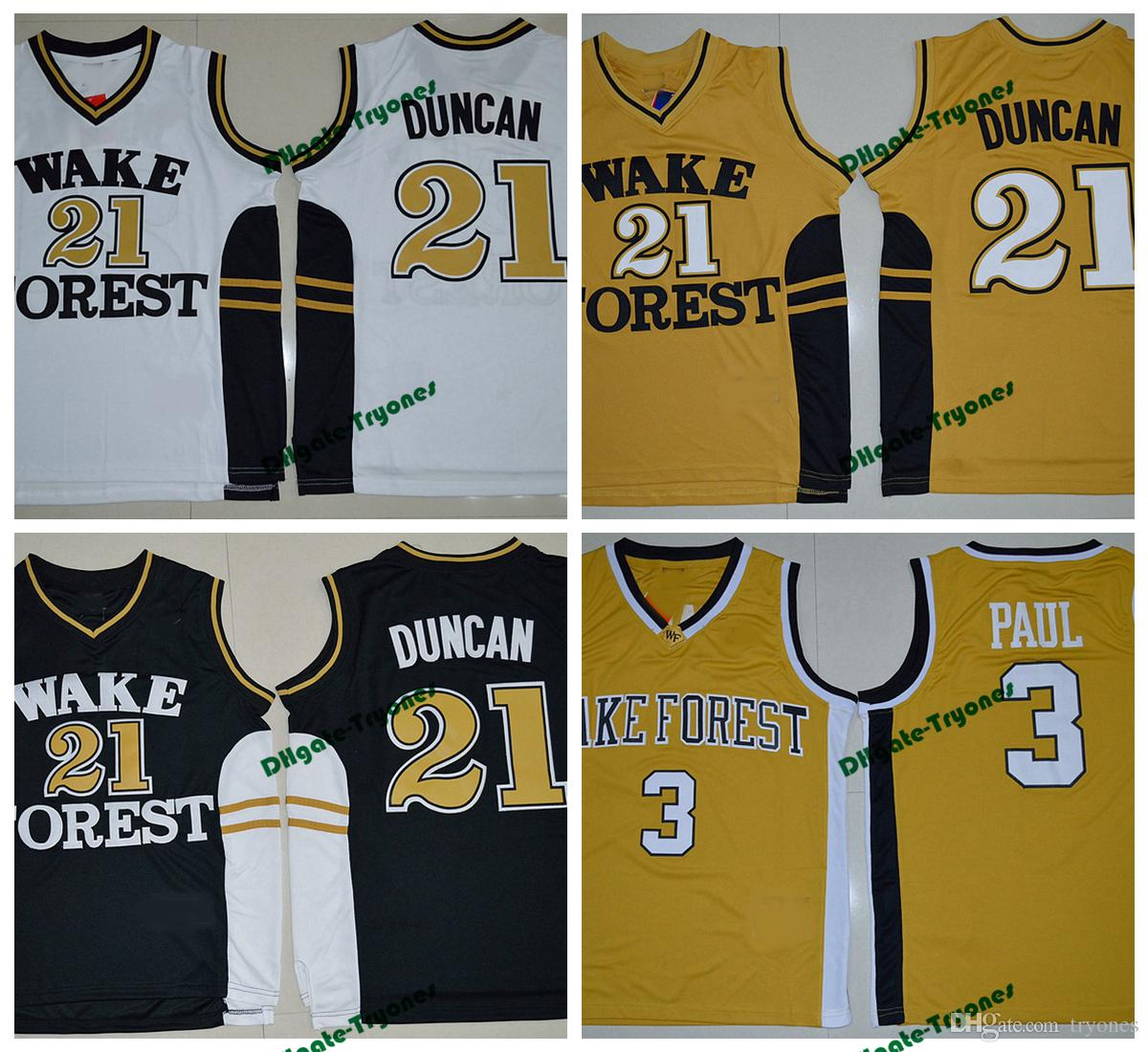 Online Cheap Wake Forest Demon Deacons College Basketball Jerseys 21 Tim  Duncan 3 Chris Paul Shirts Cheap University Stitched Basketball Jersey S  Xxl By ...